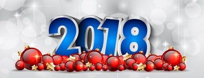 2018 bakgrund för lyckligt nytt år för din säsongsbetonade reklamblad och Gree Royaltyfri Foto