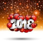 2018 bakgrund för lyckligt nytt år för din säsongsbetonade reklamblad och Gree Royaltyfria Foton