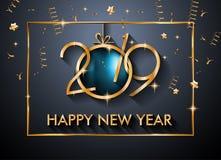 2019 bakgrund för lyckligt nytt år för din säsongsbetonade reklamblad och Gree vektor illustrationer