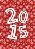 Bakgrund för lyckligt nytt år för vektor 2015 med royaltyfri illustrationer