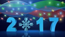 Bakgrund för lyckligt nytt år, illustration Royaltyfri Fotografi