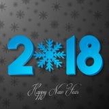 Bakgrund 2018 för lyckligt nytt år med pappers- klipp Royaltyfri Foto