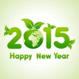 Bakgrund 2015 för lyckligt nytt år med räddning världsbegreppet Arkivbilder