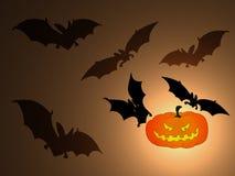 Bakgrund för lykta för allhelgonaaftonslagträpumpor mörk stock illustrationer
