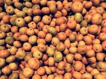 Bakgrund för många apelsiner Arkivfoto