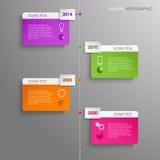 Bakgrund för mall för information om tidslinje grafisk Arkivbilder