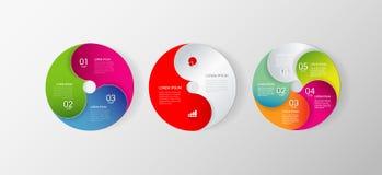 Bakgrund för mall för process för vektorcirkelindikator infographic stock illustrationer