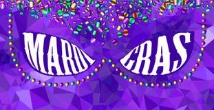 Bakgrund för Mardi graskarneval Arkivfoton