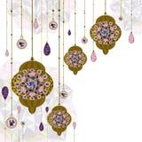 Bakgrund för Marocko lampgarnering Vektor/Illuatration royaltyfri illustrationer