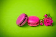 bakgrund för mat för makron för bärvårfärg Royaltyfri Fotografi