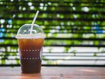 Bakgrund för med is kaffe, bakgrundsbegrepp Royaltyfria Foton
