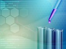 Bakgrund för medicinskt laboratorium royaltyfri illustrationer