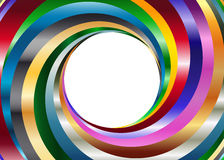 Bakgrund för metallfärgvirvel Arkivfoton
