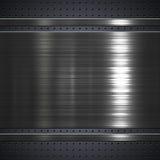 Bakgrund för metallplatta Arkivbild