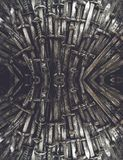 Bakgrund för metallriddaresvärd close upp Begreppsriddarna arkivbild