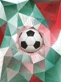 Bakgrund för Mexico fotbollboll Arkivfoton