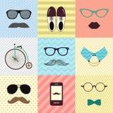 Bakgrund för mode för Hipstertappning gullig stock illustrationer