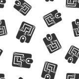Bakgrund för modell för Digital plånboksymbol sömlös Crypto påsevektorillustration Online-finans, e-kommers symbolmodell stock illustrationer