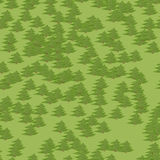 Bakgrund för modell för abstrakt färgrik trädskog sömlös i tecknad filmstil Royaltyfri Fotografi