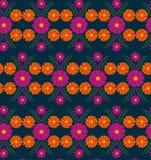 Bakgrund för modell för blomma för tappning för klassisk vektortapet sömlös Arkivfoton