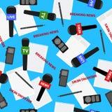 Bakgrund för modell för breaking newstema ljus sömlös Arkivbild