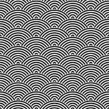 Bakgrund för modell för fiskskala sömlös abstrakt designelement Svart vektorillustration av randiga koncentriska cirklar royaltyfri illustrationer