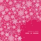 Bakgrund för modell för ram för snöflingatexturhörn Royaltyfri Bild
