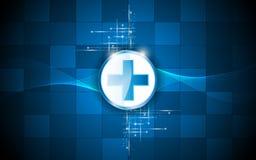 Bakgrund för modell för rektangel för design för hälsovårdlogoabstrakt begrepp vektor illustrationer