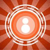 Bakgrund för modell för signal för kamerasunburst orange Arkivbild