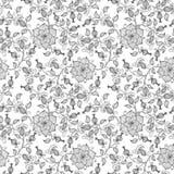 Bakgrund för modell för vektorblomma sömlös Elegant textur för bakgrunder Klassiskt lyxigt gammalmodigt blom- Arkivbild