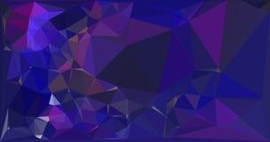 Bakgrund för modell för fractal för rosa lilablått geometrisk Arkivfoton