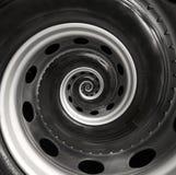 Bakgrund för modell för fractal för spiral för abstrakt begrepp för billastbilhjul Automatisk spiral bakgrund för upprepande bil  Fotografering för Bildbyråer