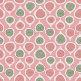 Bakgrund för modell för repetition för vektor för rosa gröna halva-snitt fikonträd sömlös Original- enkel plan illustration stock illustrationer