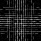 Bakgrund för modell för vektor för utdraget raster för hand sömlös Fyrkantiga former för vitt raster på den svarta bakgrunden Geo vektor illustrationer