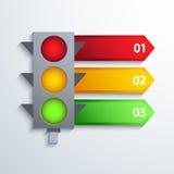 Bakgrund för modern trafik för vektor infographic Royaltyfri Bild