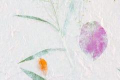 Bakgrund för mullbärsträdpapperstextur Royaltyfri Foto