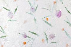 Bakgrund för mullbärsträdpapperstextur Arkivbilder