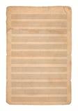 Bakgrund för musik paper Royaltyfri Foto