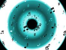 Bakgrund för musikaliska anmärkningar betyder klassiskt Arkivfoton