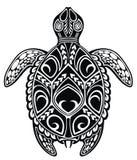 Bakgrund för musikanmärkningsdesign IllustrationGraphic havssköldpadda för vektor vektor illustrationer