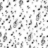Bakgrund för musikanmärkningsdesign också vektor för coreldrawillustration stock illustrationer