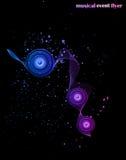 Bakgrund för musikhändelsereklamblad Royaltyfri Foto