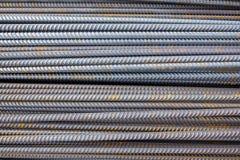Bakgrund för närbild för stålstänger Royaltyfria Bilder