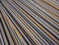Bakgrund för närbild för stålstänger Royaltyfri Fotografi