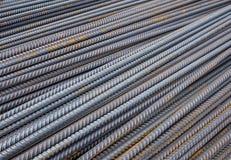 Bakgrund för närbild för stålstänger Arkivfoton