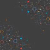 Bakgrund för nätverksfärgteknologi Royaltyfri Bild