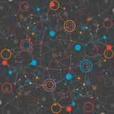 Bakgrund för nätverksfärgteknologi Royaltyfria Bilder