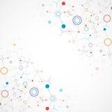 Bakgrund för nätverksfärgteknologi Arkivfoton