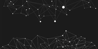 Bakgrund för nätverksförbindande prickpolygon: Begrepp av nätverket, affär som förbinder, molekyl, data, kemikalie royaltyfri illustrationer