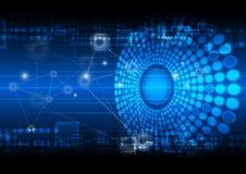 Bakgrund för nätverksteknologi Royaltyfri Fotografi